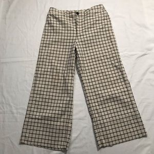 Madewell Emmet Window Pane wide leg pants Sz 30